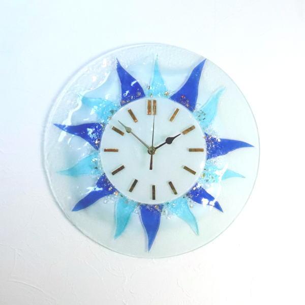 ベネチアングラス ベネチアンガラス 掛け時計 掛時計 おしゃれ かわいい ヴェネチアンガラス pelt613t