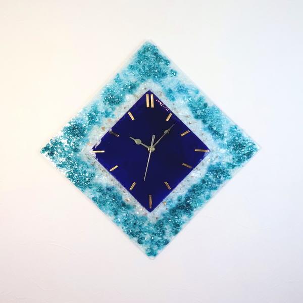 pelt13-85g-r ベネチアングラス掛け時計 イタリア製 インテリアおしゃれ掛け時計 お祝い 結婚祝い ギフト