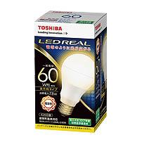 東芝 LDA7N-G/60W 昼白色 60個入/1箱 E26口金 LED電球 全方向タイプ配光角260度 一般電球60W形相当[LDA7NG60W]