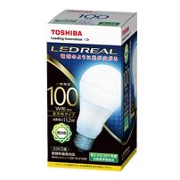 東芝 LDA11N-G/100W 10個入//1箱 LEDREAL LED電球 全方向タイプ配光角240度100W形相当 昼白色 E26口金[LDA11NG100W]