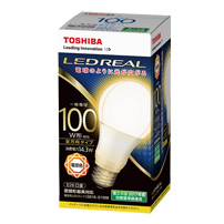 東芝 LDA14L-G/100W 10個入/1箱 LEDREAL LED電球 全方向タイプ 配光角230度100W形相当 電球色 E26口金[LDA14LG100W]