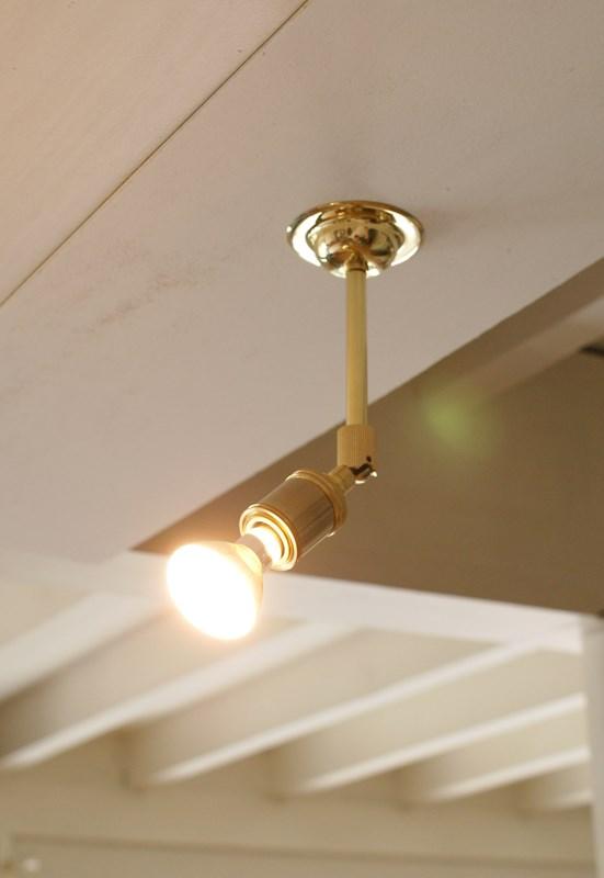 brass spot light - moving type (ブラススポットライト ムービングタイプ) インダストリアル 可動式