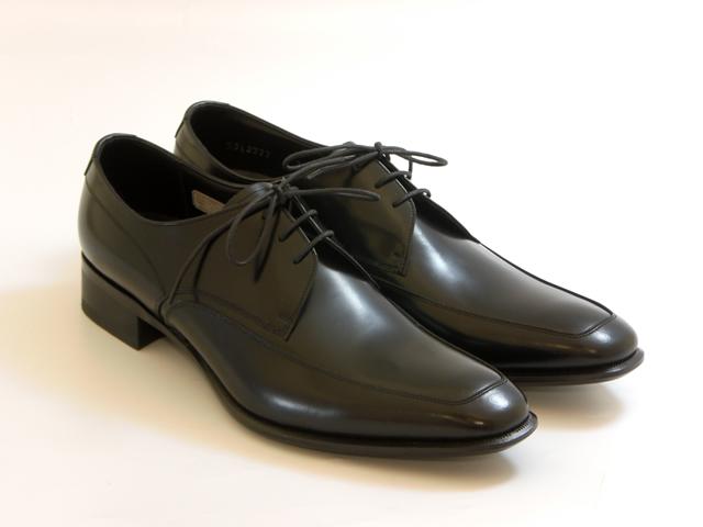 [REGAL Men's]リーガル メンズスクエアトウ Uチップ(ブラック)☆靴 シューズ メンズ☆