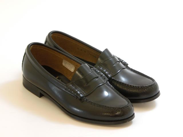 送料無料 沖縄 離島は1100円かかります REGAL [再販ご予約限定送料無料] リーガル定番 限定モデル コインローファー レディース☆ ブラック ウィズ:3E ☆靴 シューズ