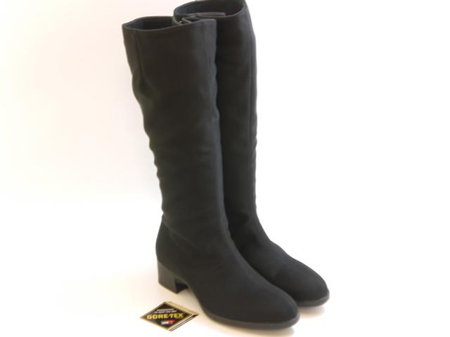 ≪10% OFF SALE≫[LIBERTY HOUSE] リバティー ハウスGORE-TEX 防水タイプ ロングブーツ(ブラック)☆靴 シューズ レディース☆セール品につき返品・交換・キャンセル不可
