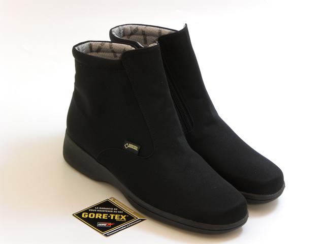 LIBERTY HOUSE リバティー ハウスGORE-TEX 防水タイプ ショートブーツ(ブラックブラック) レディース シューズ 靴