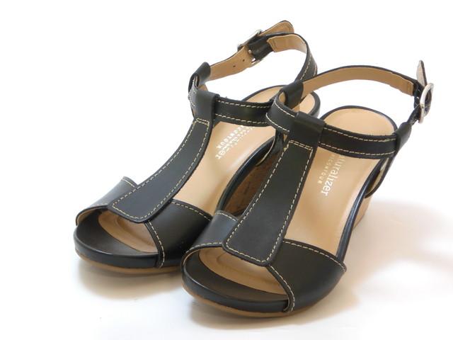 319327946f7d naturalizer ナチュラライザー T-strap wedge sandals (black) Lady s shoes shoes  sandals