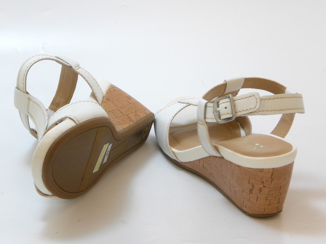 fea666ac5e4b naturalizer ナチュラライザー T-strap wedge sandals (white) Lady s shoes shoes  sandals