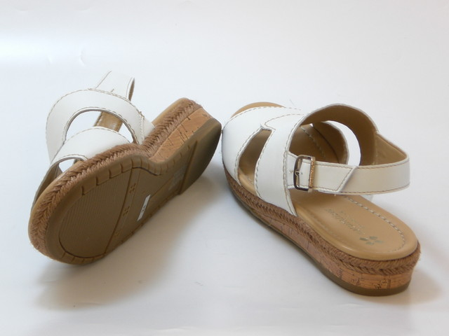 961e0510d8d9 ... naturalizer ナチュラライザージュートwinding low wedge sandals (white) Lady s shoes  shoes sandals ...