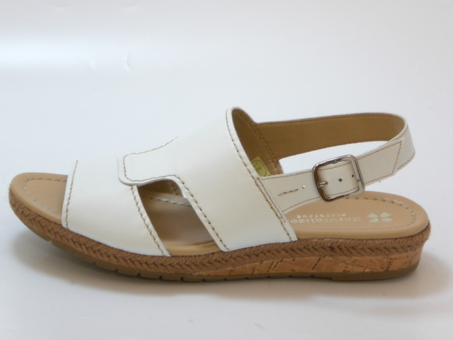 c120633f0081 ... naturalizer ナチュラライザージュートwinding low wedge sandals (white) Lady s shoes  shoes sandals