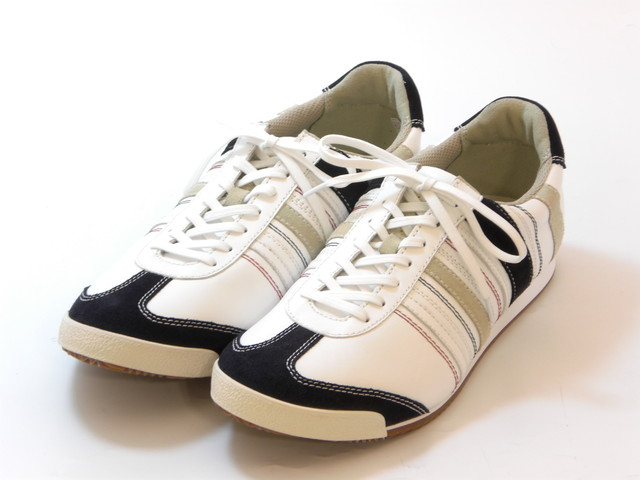 送料無料 沖縄 SALENEW大人気! 離島は1100円かかります REGAL Men's 2020モデル リーガル ホワイトネイビー 靴 メンズレースアップ シューズ レザースニーカー メンズ