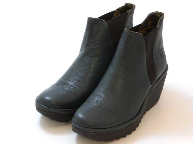 ≪30% OFF SALE≫FLY LONDON フライロンドンYOSS サイドゴアブーツ(ブルーグレー) レディース シューズ 靴セール品につき返品・交換・キャンセル不可