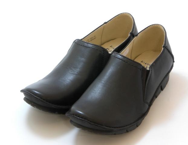 hiromichi nakano ヒロミチ ナカノ(超軽量)甲深サイドゴア スリッポンシューズ(ブラック)レディース シューズ 靴