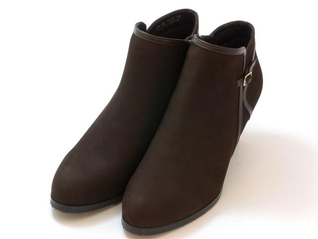 ≪30% OFF SALE≫REGAL リーガルコンビネーションデザイン ショートブーツ(ダークブラウンスエード)レディース シューズ 靴セール品につき返品・交換・キャンセル不可