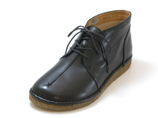 送料無料 沖縄 売れ筋 離島は1100円かかります HOCCO ホッコレースアップ 海外限定 レディース シューズ カジュアルアンクルブーツ 靴 ブラック
