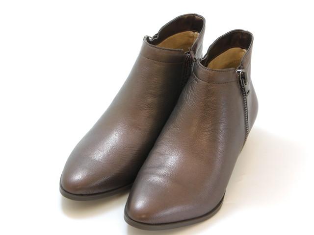 ≪20% OFF SALE≫naturalizer ナチュラライザージッパーデザイン ショートブーツ(ダークブラウン)レディース シューズ 靴セール品につき返品・交換・キャンセル不可