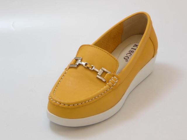 ≪20% OFF SALE≫KISCO キスコ厚底 ソフトレザービットシューズ(オレンジ)レディース シューズ 靴セール品につき返品・交換・キャンセル不可