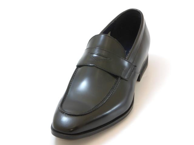 KENFORD Men's ケンフォード メンズスクエアトゥ ローファー(ブラック)メンズ シューズ 靴