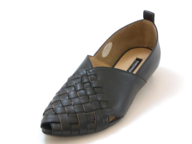 RABOKIGOSHI works ラボキゴシ ワークス甲深 メッシュパンプス(ブラック)レディース シューズ 靴セール品につき返品・交換・キャンセル不可