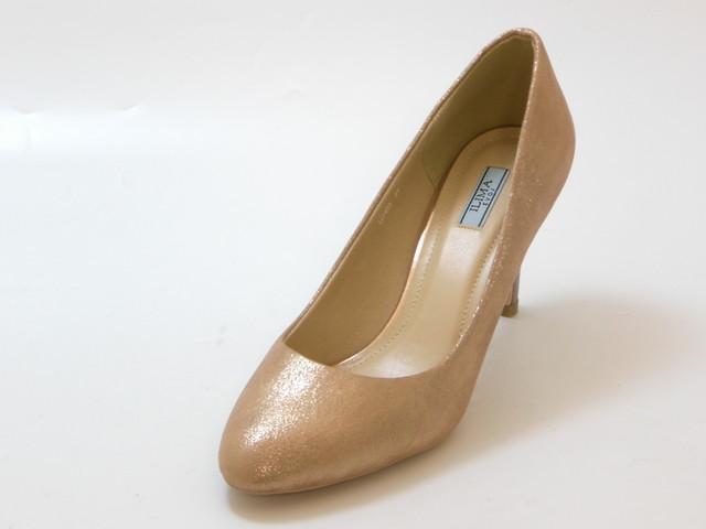 ≪30% 高級品 OFF SALE≫EVOL イーボルILIMA ビジューリング ブラウン 靴 レディース シューズ 至高 ラウンドトゥパンプス