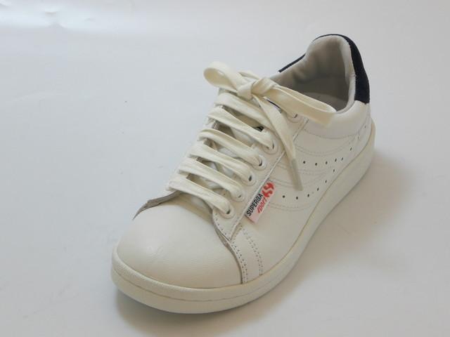SUPERGA スペルガ4832 LENDL GOATNAPPAU(ホワイト/ネイビー)レディース シューズ 靴セール品につき返品・交換・キャンセル不可