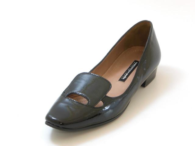 RABOKIGOSHI works ラボキゴシ ワークスボロネーゼ エナメルパンプス(ブラック)レディース シューズ 靴