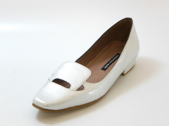 RABOKIGOSHI works ラボキゴシ ワークスボロネーゼ エナメルパンプス(シルバー)レディース シューズ 靴