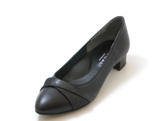 REGAL リーガルアーモンドトゥ ツイストベルトパンプス(ブラック)レディース シューズ 靴