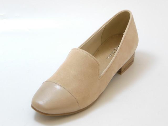 REGAL リーガルスクエアトゥ カジュアルスリッポンシューズ(ライトピンク)レディース シューズ 靴