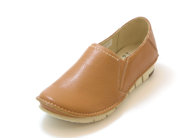送料無料 定価の67%OFF 沖縄 離島は1100円かかります hiromichi 最安値挑戦 nakano ヒロミチ ナカノ 超軽量 シューズ 靴 レディース ライトブラウン 甲深サイドゴア スリッポンシューズ