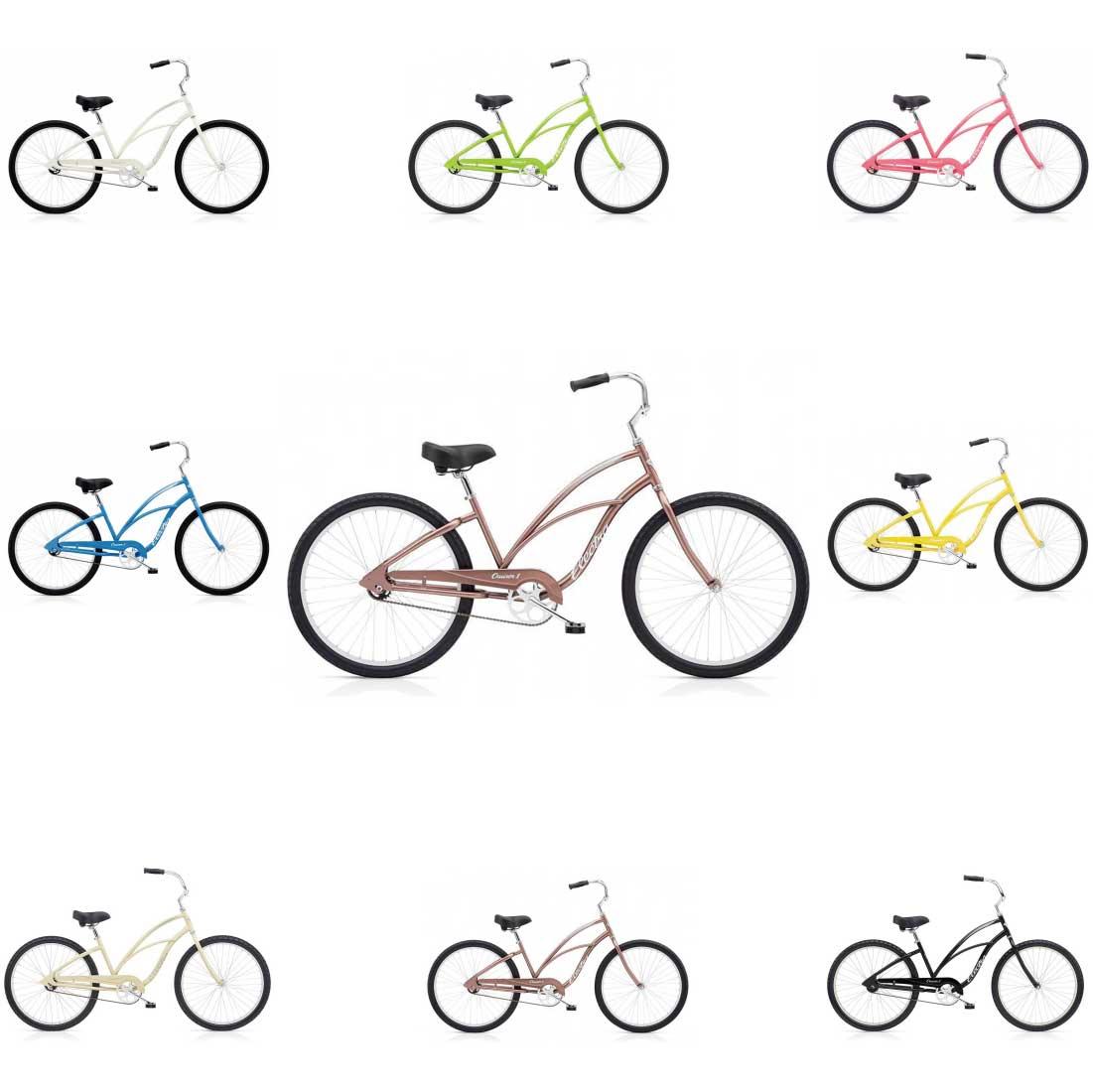 エレクトラ ビーチクルーザー 26インチ レインボー おしゃれ 自転車 通勤 通学 メンズ レディース CRUISER-1-LADY
