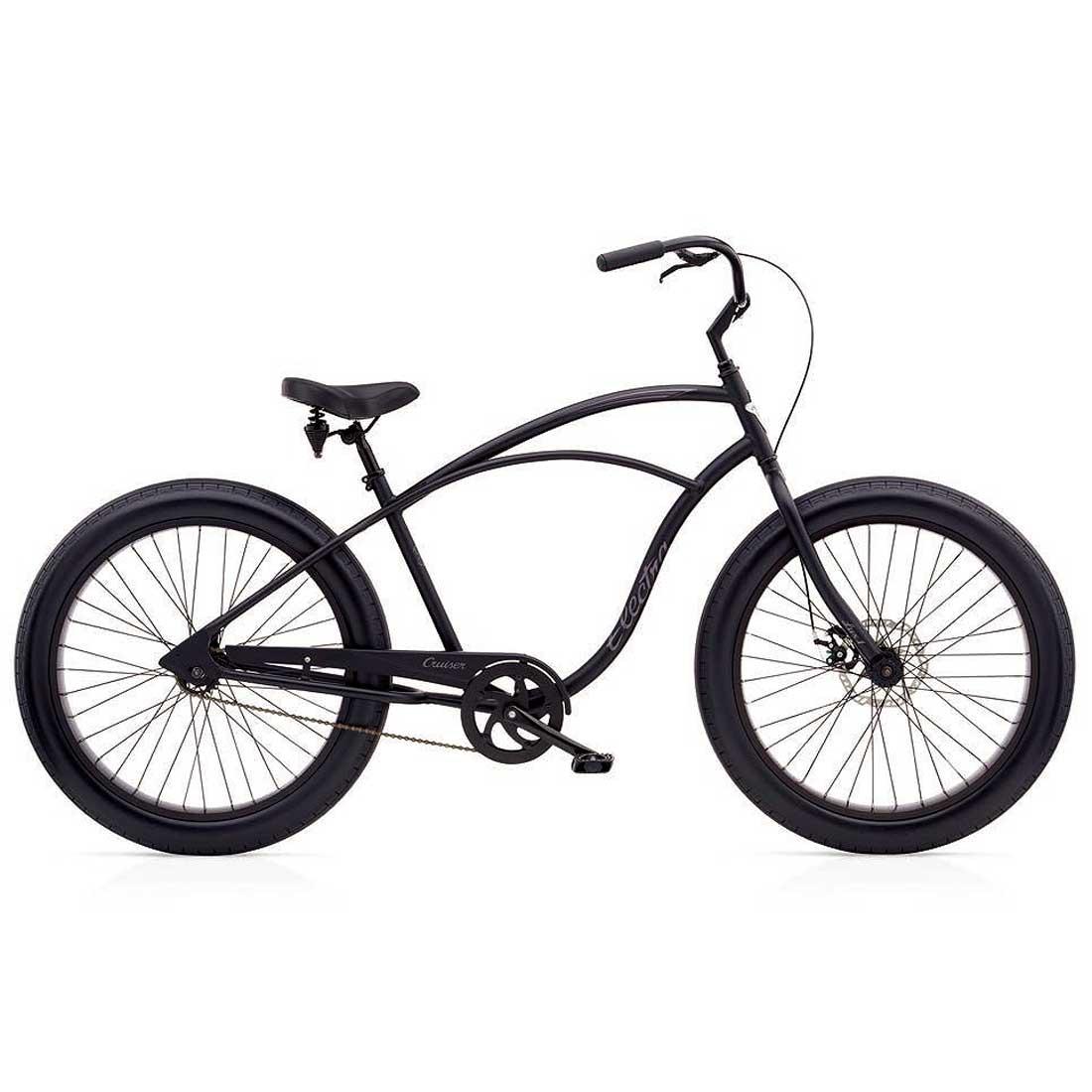 ビーチクルーザー 26インチ ファットバイク おしゃれ 自転車 通勤 通学 エレクトラ LUX1-FAT-TIRE マットブラック メンズ レディース
