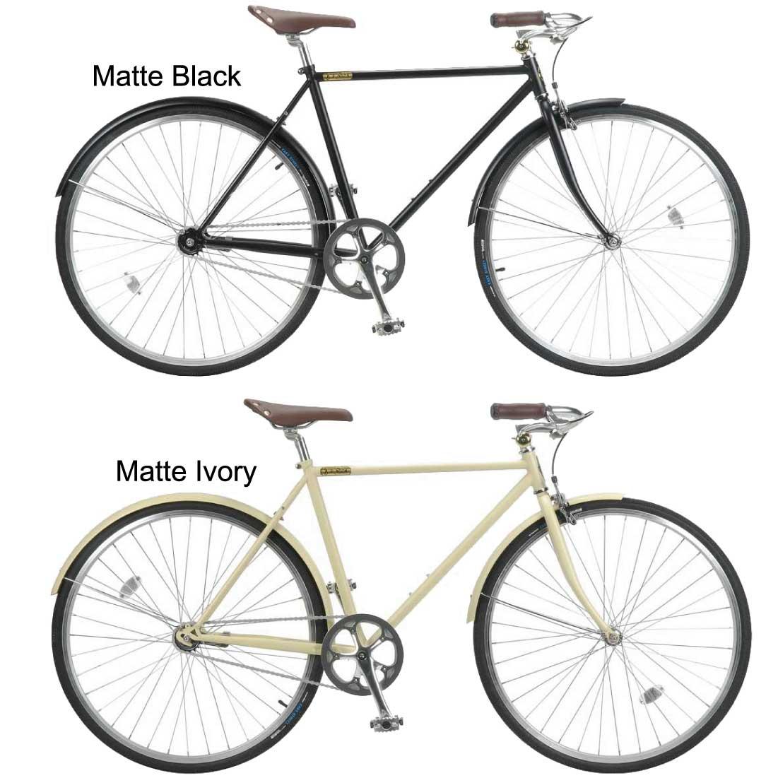おしゃれ 自転車 通勤 通学 メンズ レディース 自転車 700C シングルスピード クラシック クロスバイク ロードバイク Burlington 700c 1Speed メンズ レディース