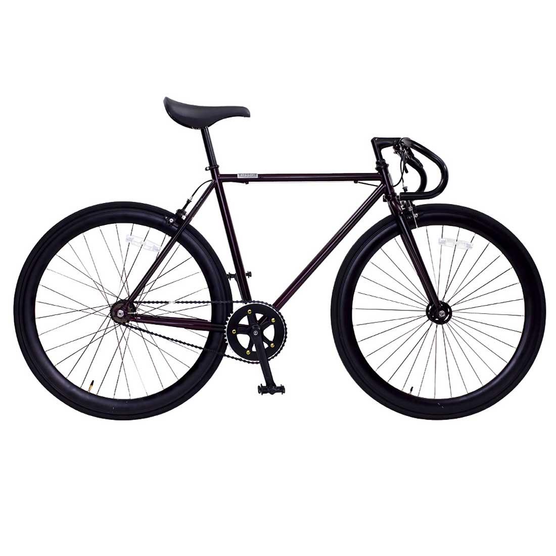 ピスト 700C シングルスピード ディープリム クロスバイク ロードバイク おしゃれ 自転車 通勤 通学 OSSO R100-CR ボルドー オッソ メンズ レディース