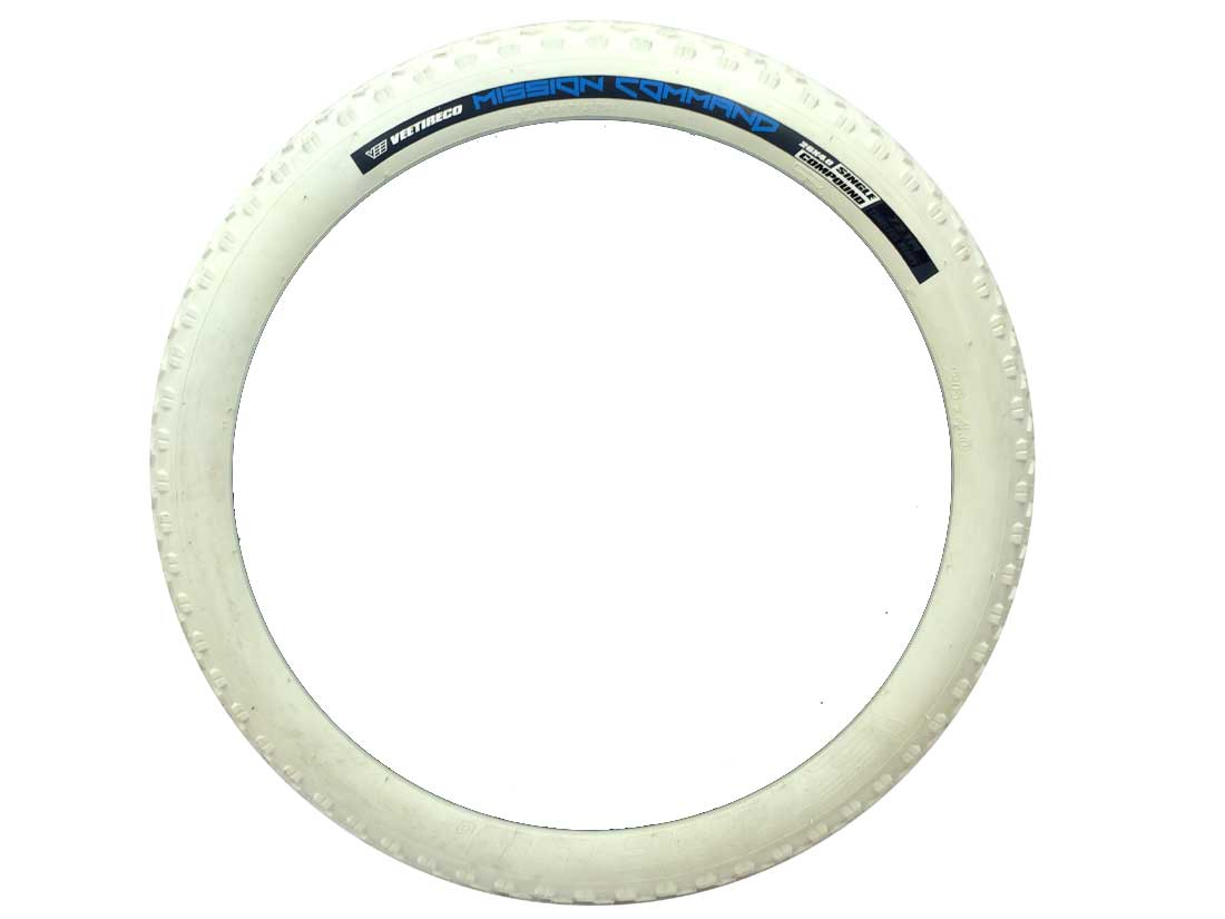 【VEE RUBBER ファットタイヤ】VEE MISSION WIRE 26×4.0 WHITE自転車 ファットバイク 26インチ タイヤ