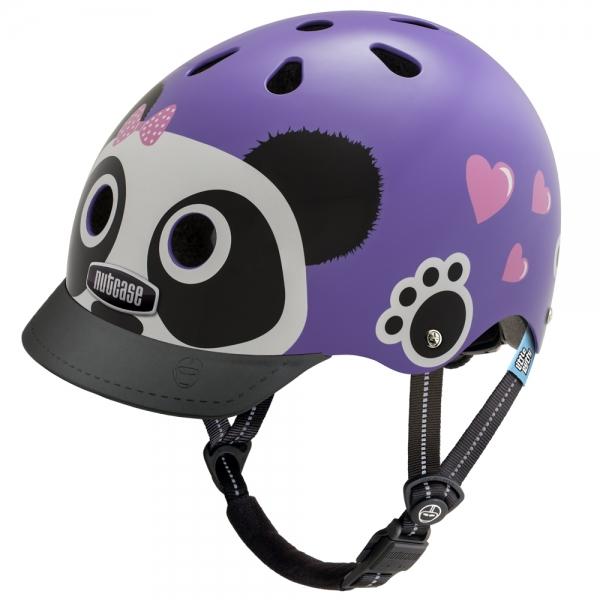 【ジュニア用ヘルメット】NUTCASE LITTLE NUTTYDesign:Purple Panda安全でデザインも豊富、どうせならカッコいい方がいい!!