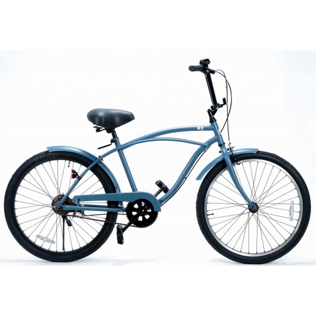 レインボー ビーチクルーザー 24インチ おしゃれ 自転車 通勤 通学 メンズ レディース ジュニア 24KB-1SPEED バトルシップグレー