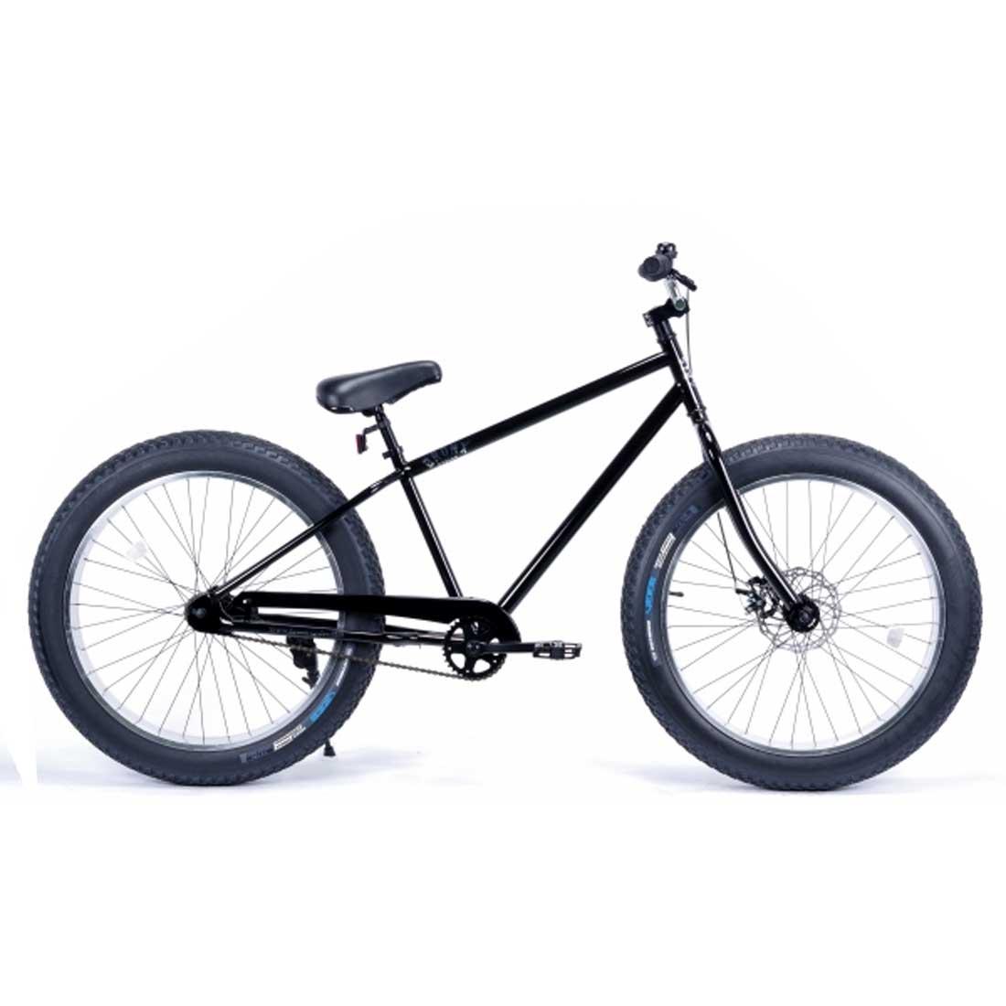 ファットバイク 26インチ 極太タイヤ 限定 おしゃれ 自転車 通勤 通学 ブロンクスファットバイク 26BRONX-4.0 グロスブラック×ポリッシュリム メンズ レディース