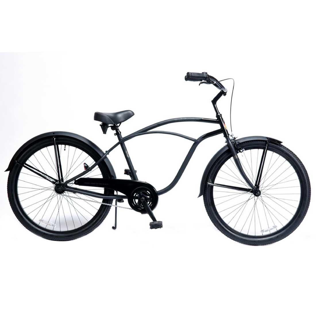 レインボー ビーチクルーザー 26インチ おしゃれ 自転車 通勤 通学 メンズ レディース 26mens-BC ダースベイダー