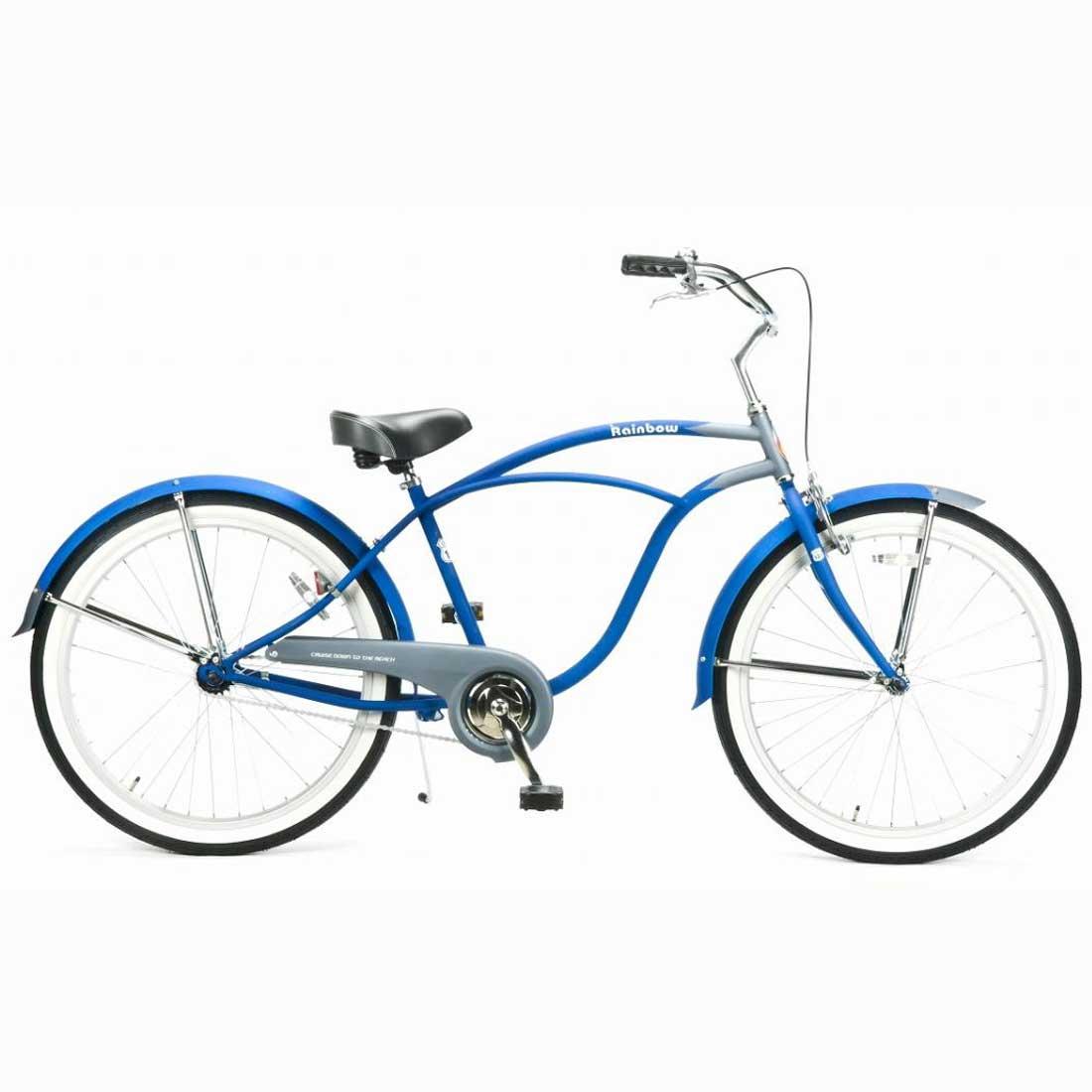 ビーチクルーザー 26インチ おしゃれ 自転車 通勤 通学 レインボービーチクルーザー 26mens-STD オーシャンストーム メンズ レディース