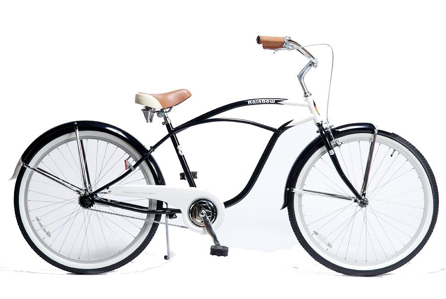 レインボー ビーチクルーザー 26インチ おしゃれ 自転車 通勤 通学 メンズ レディース 26mens-STD ヤングネ-ビー