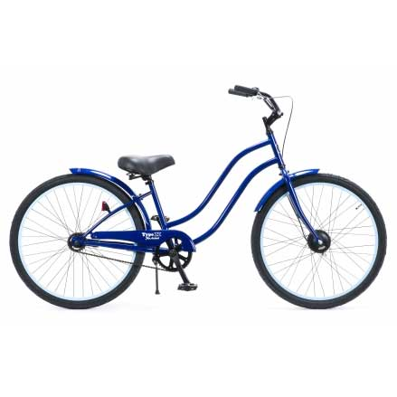 レインボー ビーチクルーザー 26インチ おしゃれ 自転車 通勤 通学 メンズ レディース 26TYPE-X-LADY ブルー×パステルブルーリム