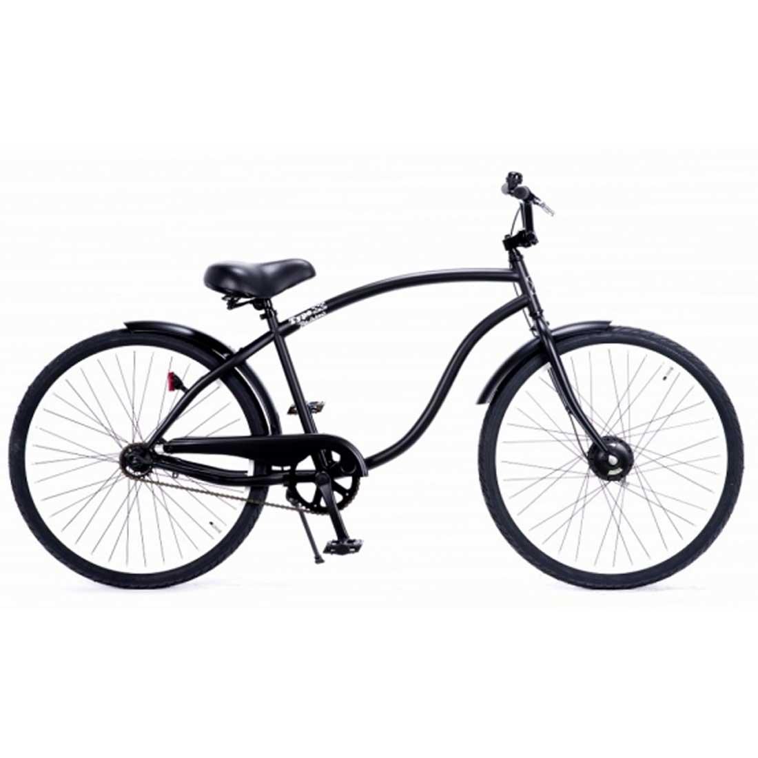 自転車は店舗 鵠沼海岸店 受取で送料無料 評価 超歓迎された 自転車 RAINBOW TYPE-X 26CRUISER EDGE MatteBlack×WhiteRim 通勤 メンズ レディース おしゃれ 通学 26インチ BMXハンドル ビーチクルーザー レインボー
