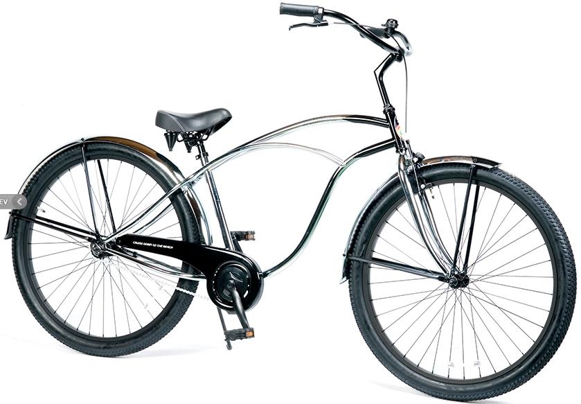 ビーチクルーザー 29インチ おしゃれ 自転車 通勤 通学 レインボービーチクルーザー 29er クロームポリッシュ メンズ レディース