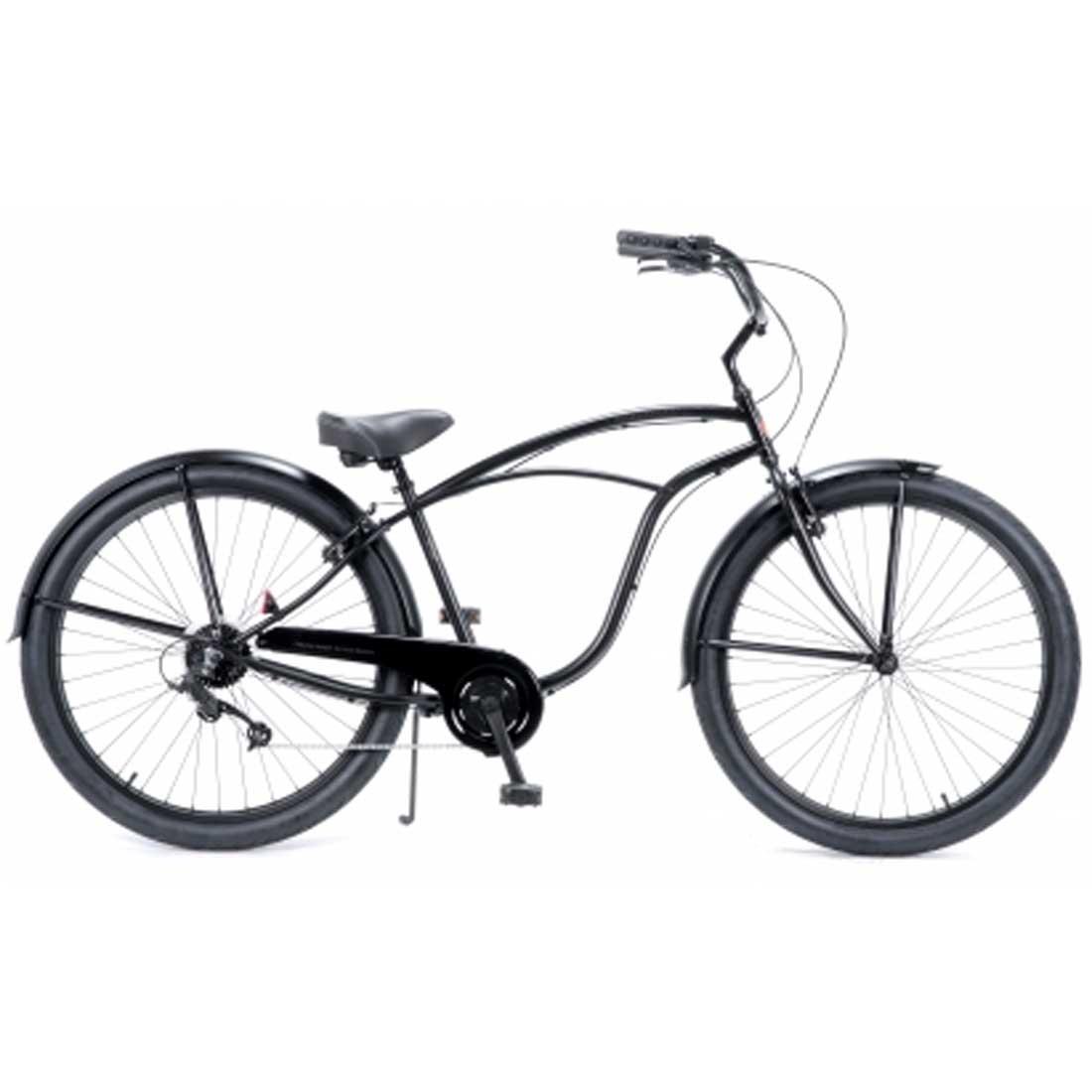 自転車は店舗 鵠沼海岸店 受取で送料無料 自転車 RAINBOW PCH101 29er-8D DARTH-VADER レインボー 8段変速付 おしゃれ 激安通販専門店 全店販売中 29インチ ビーチクルーザー 通勤 メンズ レディース 通学