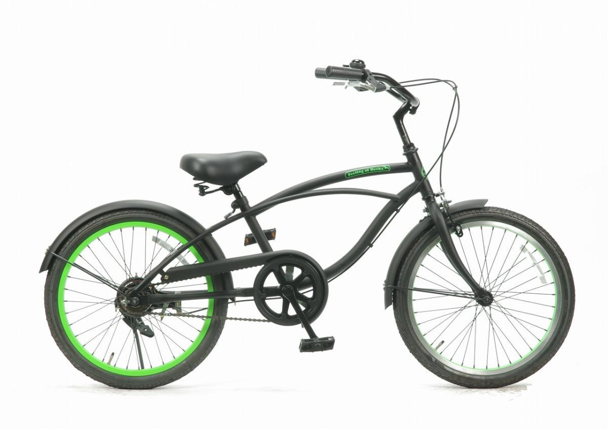 子供用自転車 20インチ ビーチクルーザー おしゃれ 自転車 ジュニア 小学生 レインボー Feelling of decks FOD-20