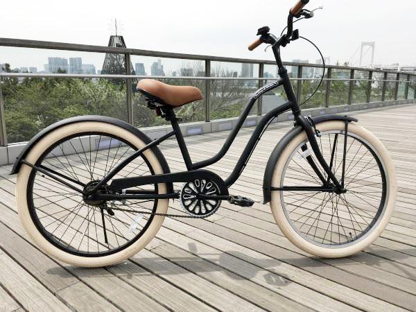 【湘南鵠沼海岸発信】24インチ ビーチクルーザー《FEELLING OF DECKS 24inch》レディース 子供用 自転車 24インチ レインボー