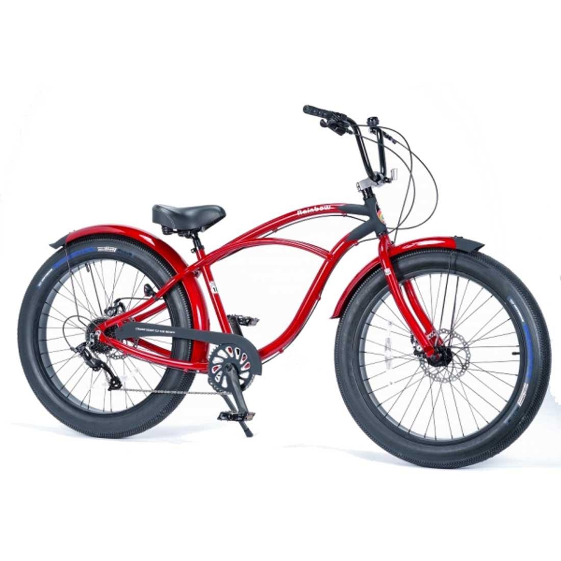 ビーチクルーザー 26インチ ファットバイク アルミフレーム 自転車 通勤 通学 レインボービーチクルーザー GREASE-3.5 マーシャル メンズ レディース