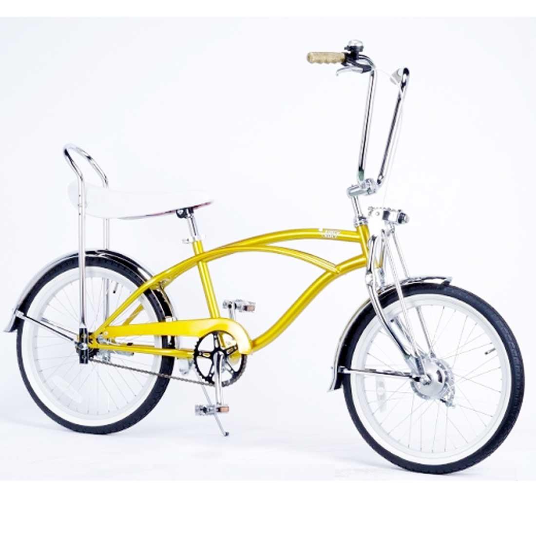 ローライダー 20インチ カスタムバイク おしゃれ 自転車 通勤 通学 レインボービーチクルーザー VOLT LOW-RIDER ゴールド メンズ レディース ジュニア