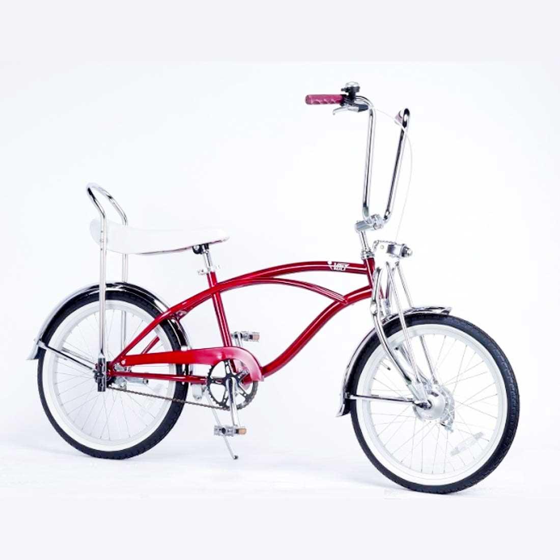 ローライダー 20インチ カスタムバイク おしゃれ 自転車 通勤 通学 レインボービーチクルーザー VOLT LOW-RIDER レッド メンズ レディース ジュニア